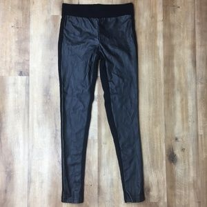 Faux Leather Black Leggings Forever 21 Small